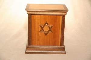 (SD3)Star David Contemporary Cherry Urn