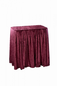 URN TABLE - BURGUNDY